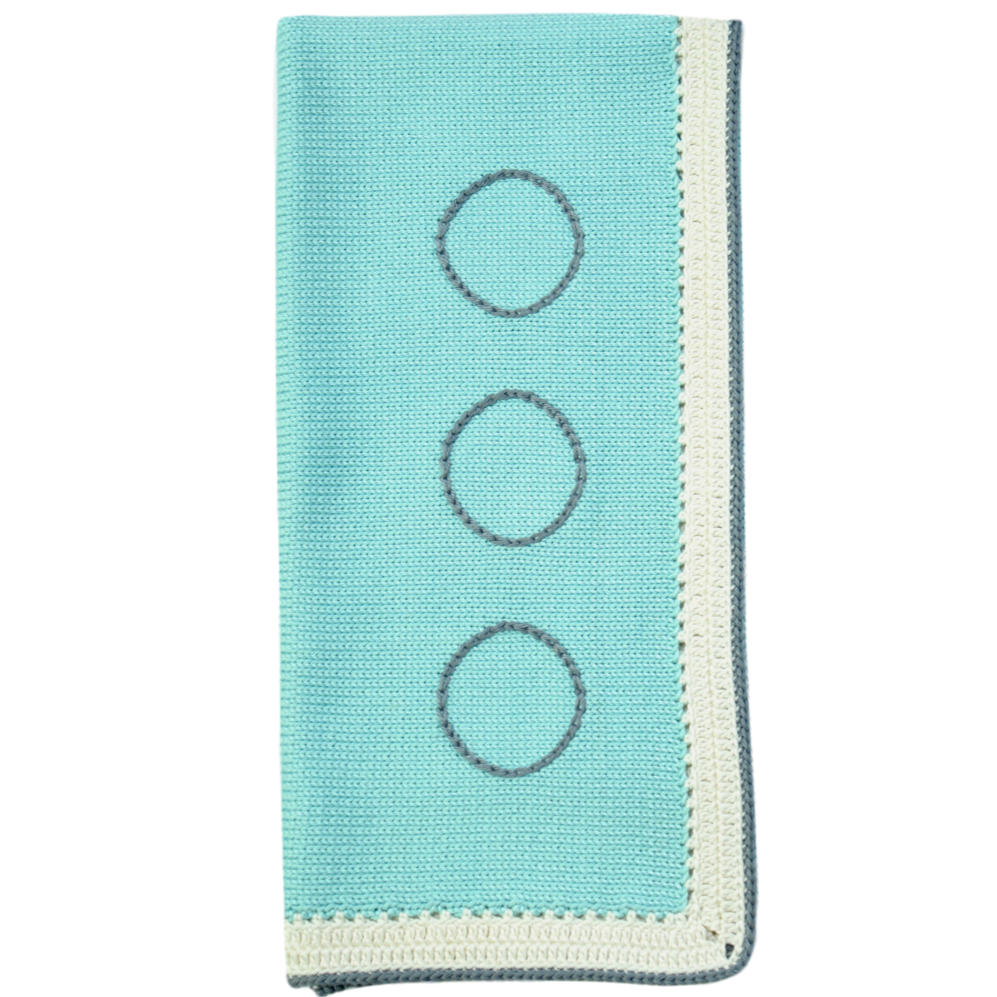 Baby Blanket: Ice Blue Stone - Haiti Babi - Artisan Baby Products, Handmade By Moms In Haiti.