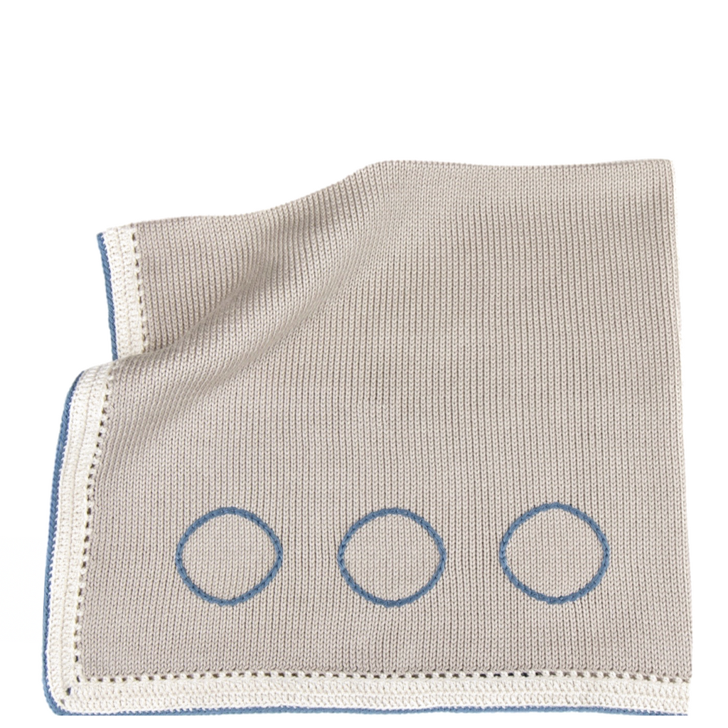 Tranquility Baby Blanket: Steel Blue - Haiti Babi - Artisan Baby Products, Handmade By Moms In Haiti.