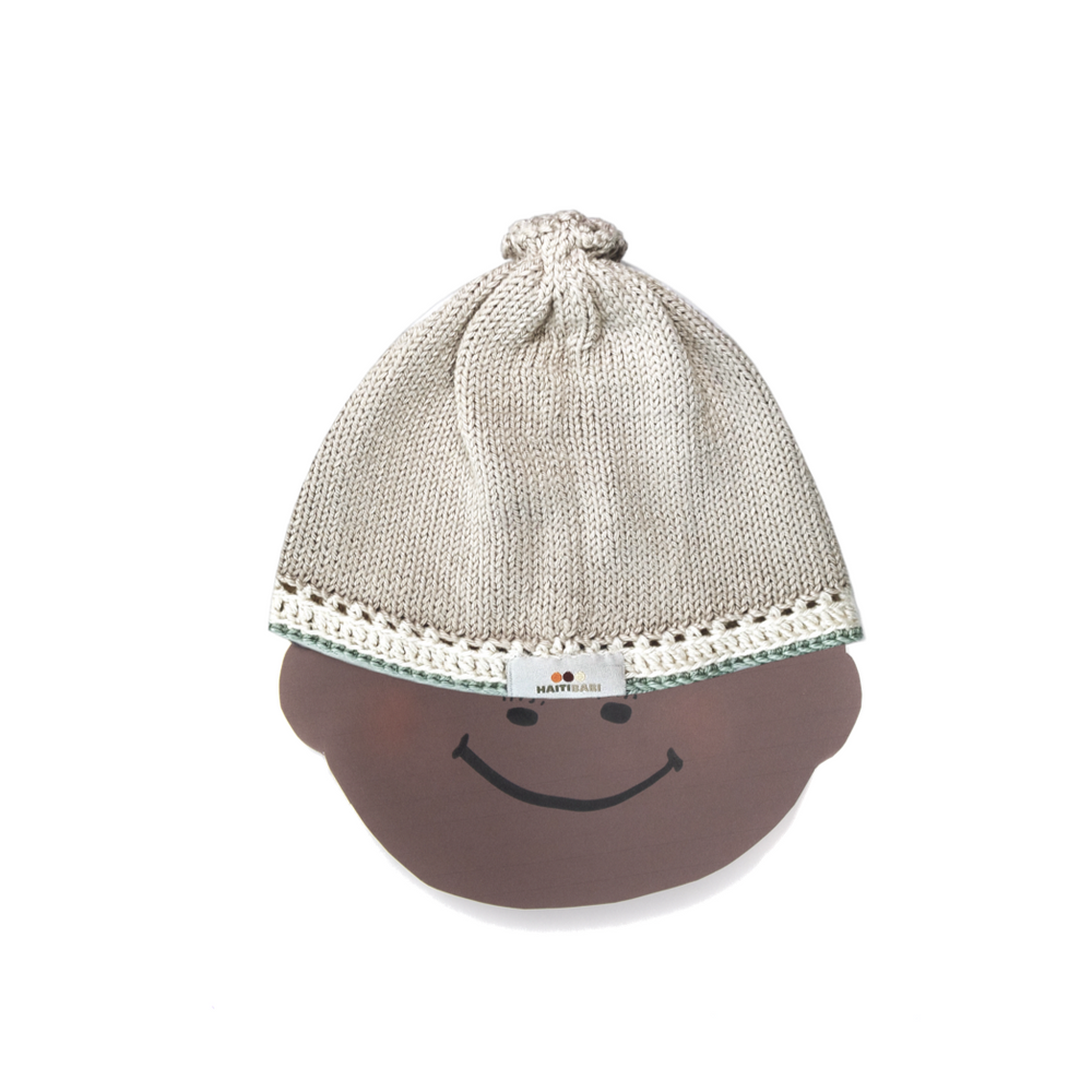 Signature Baby Hat: Pebble Sage - Haiti Babi - Artisan Baby Products, Handmade By Moms In Haiti.