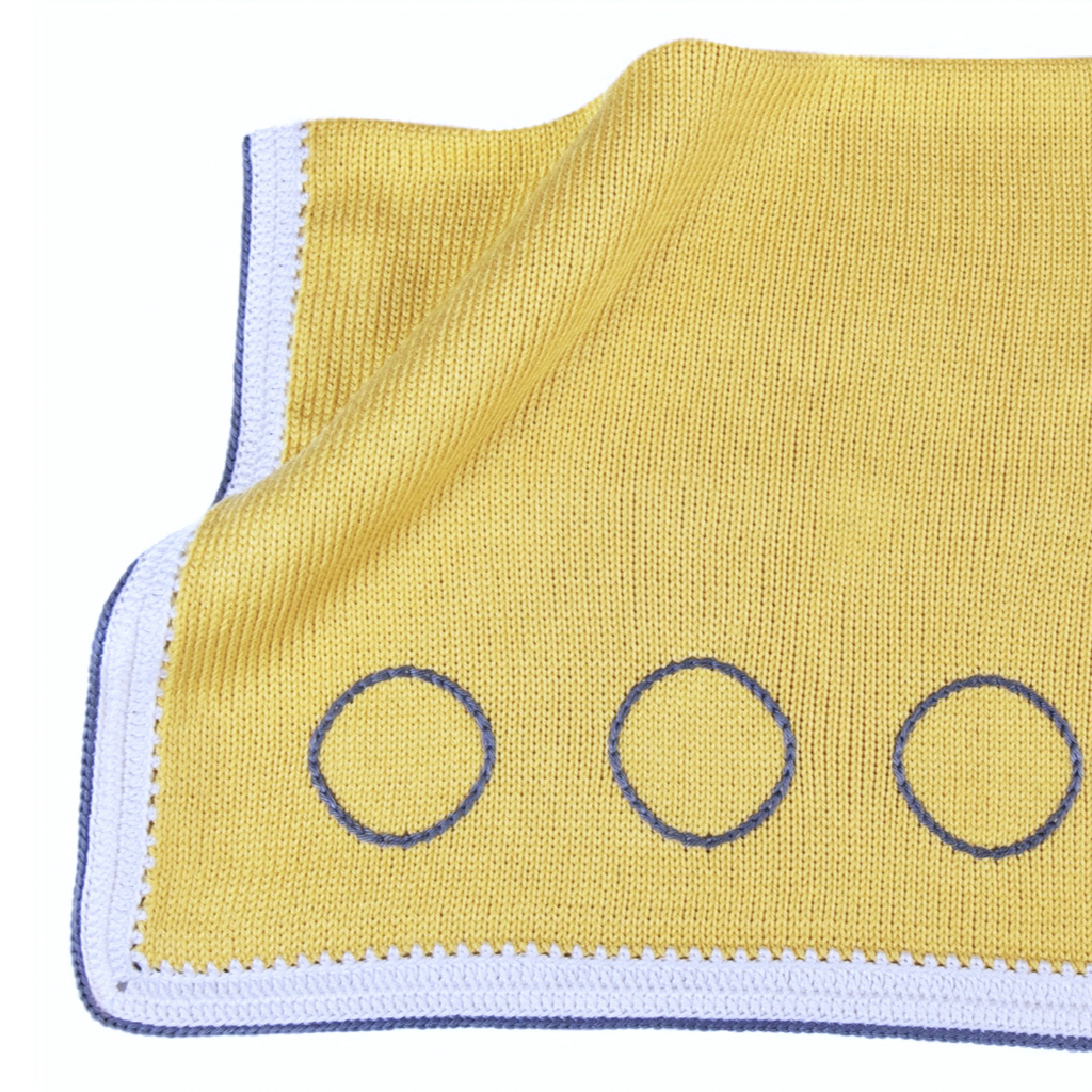 Caribbean Baby Blanket: Pineapple Yellow Stone - Haiti Babi - Artisan Baby Products, Handmade By Moms In Haiti.