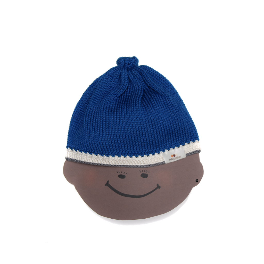 Naval Blue Baby Hat : Mariner Blue Stone - Haiti Babi - Artisan Baby Products, Handmade By Moms In Haiti.