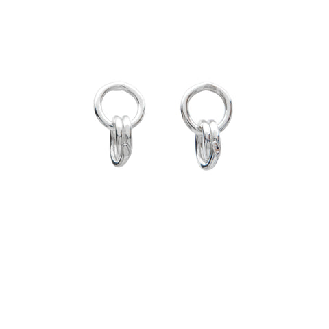 Allora by Laura Ali Grace Sterling Interlocked Hoop Earrings