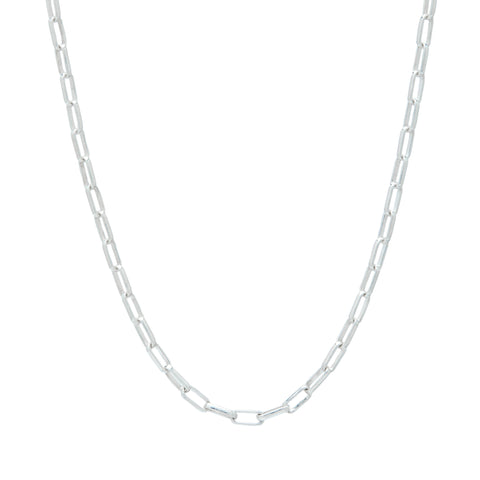 Allora by Laura Ali Grace Paperlink Sterling Silver Chain