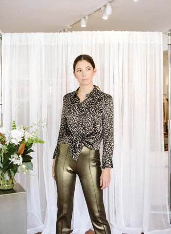 LAPOINTE Gold Side Zip Pant