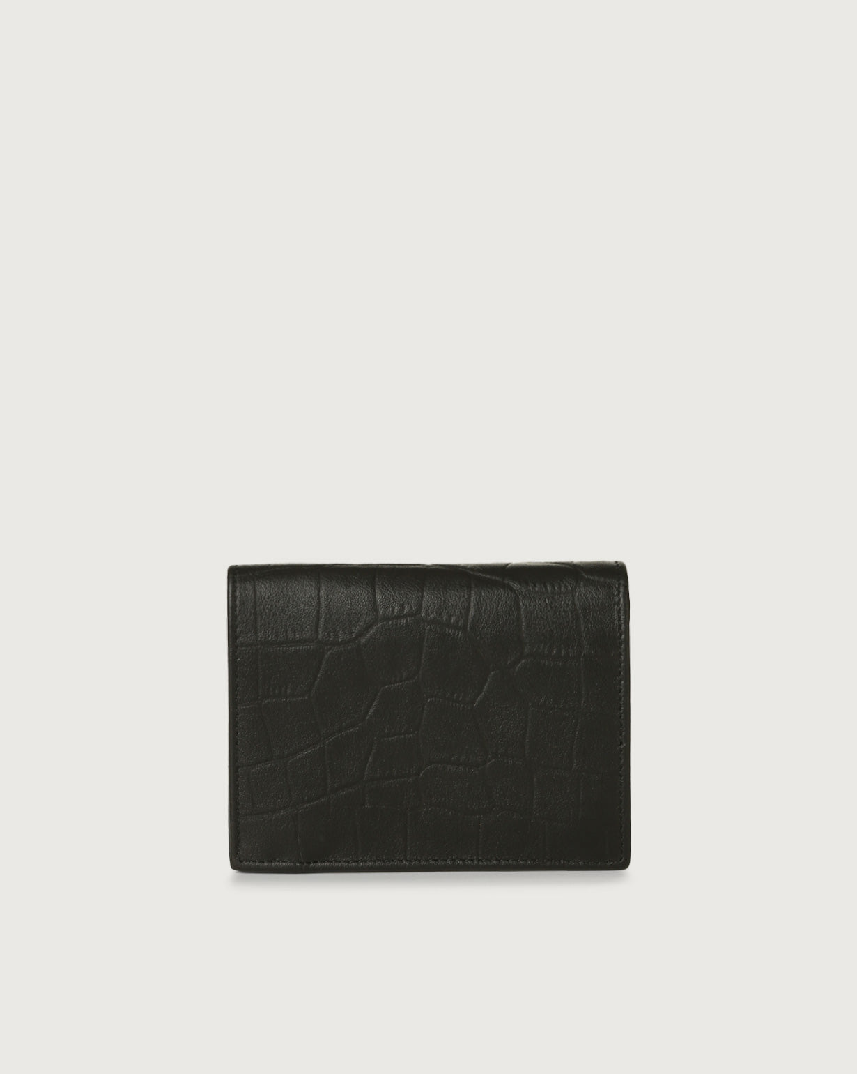 Orciani Croc Embossed Wallet