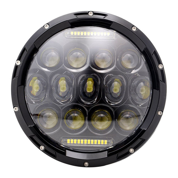 7 Inch 75W Round Philips LED Headlight with DRL H/L Beam for Offroad Jeep Wrangler JK TJ Harley Davidson Hummer Driving Light