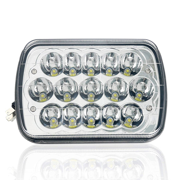 "7""x 5"" Headlamp LED Light Hi/Low Sealed Beam Rectangle Headlight Replacement for Jeep Wrangler YJ Cherokee XJ Trucks 4X4 Offroad"