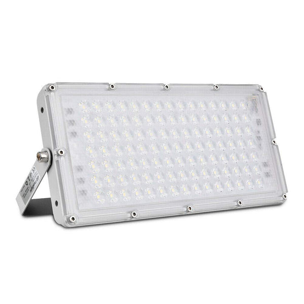 Outdoor Slim 100W LED Flood Light Landscape Security Workshop Wall Light motion sensor1