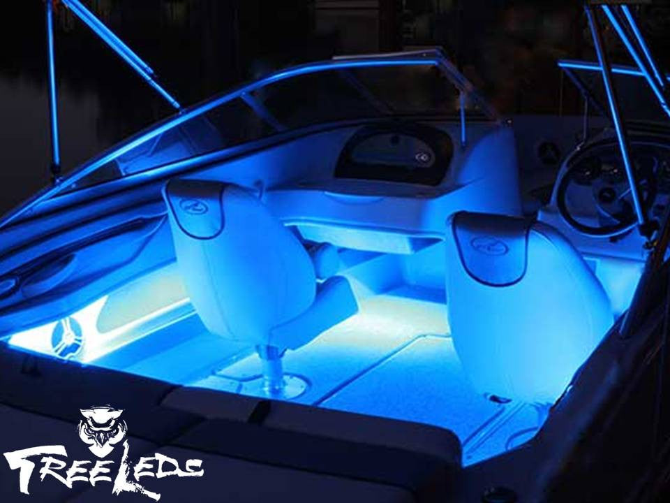 Blue Courtesy Interior Strip Led Light for Boats (10 pieces)