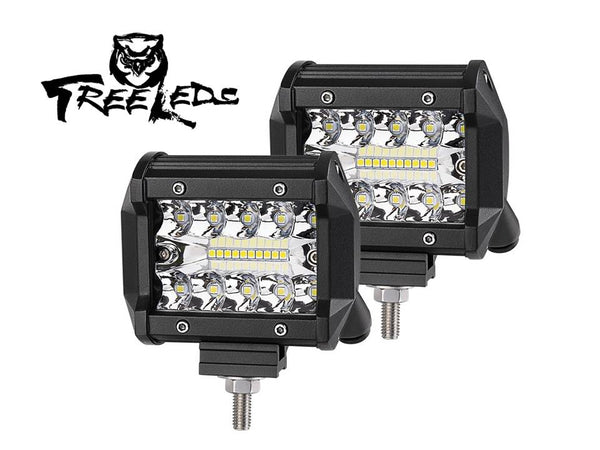 "Pro - 4"" Inch Led Light Cube 120 Watts (Pack of 2)"