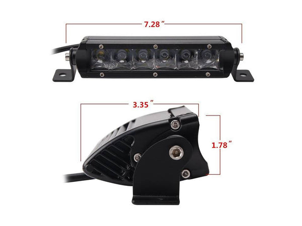 "7"" Single Row Led Light Bar"
