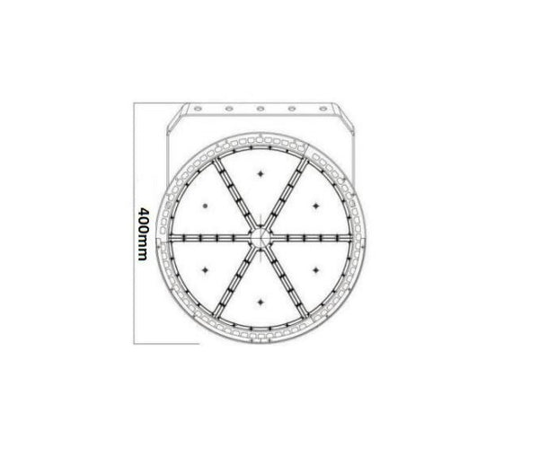 STADIUM LIGHTING – 600W – 22'' Inch Diameter – Cool White 5000-6500K – 120,000 LM