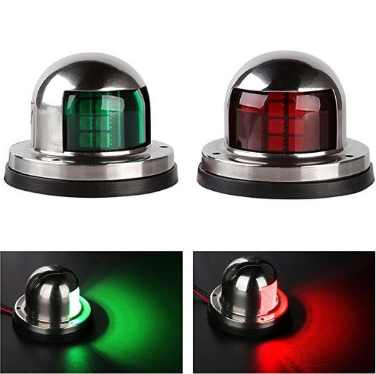 BRAND NEW RED/GREEN NAVIGATION LIGHTS – (2 PIECES)