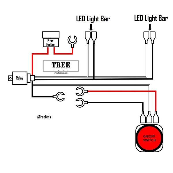 Light Bar Wiring Harness (Two Lead)