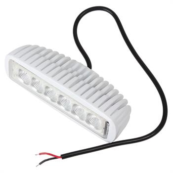 50 INCH WHITE CURVED BOAT LED LIGHT BAR + 2 LED 6' INCHES T-TOP LIGHTS