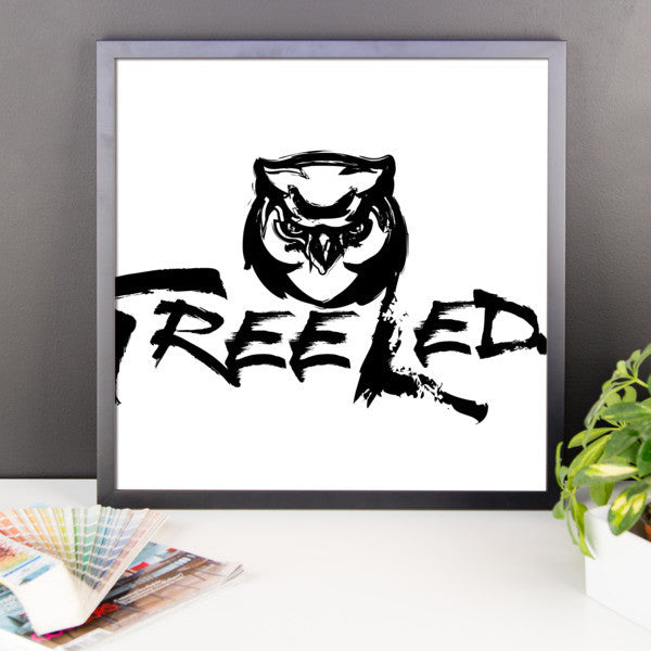 Tree Leds Framed Poster
