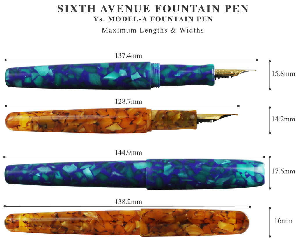 Sixth Avenue Model A fountain pens