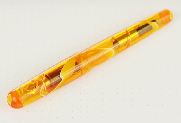 Birmingham Model-A Crystalline Fountain Pen, Liquid Hot Magma