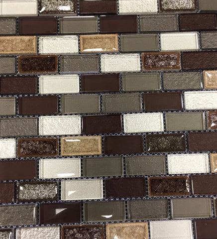 "ACT353 Mosaic Glass Tile 1""x2"""