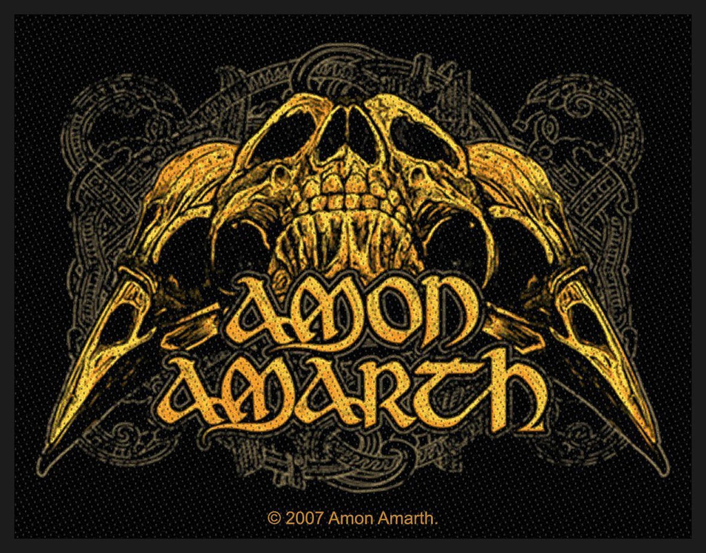 AMON AMARTH - Raven Skull PATCH