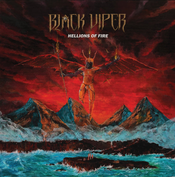 "BLACK VIPER - Hellions of Fire LP + 10"" (RED/ YELLOW SPLATTER) (PREORDER)"
