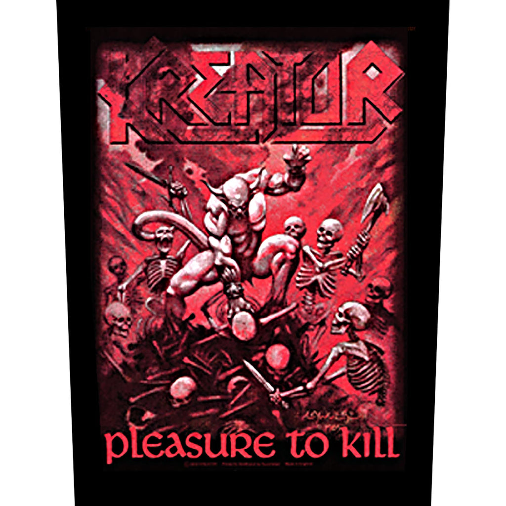 KREATOR - Pleasure to kill BACKPATCH