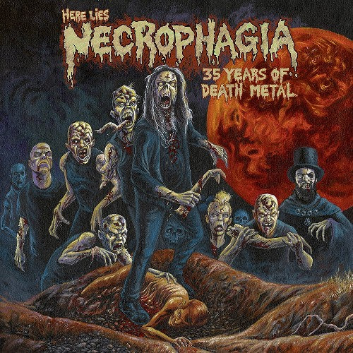 NECROPHAGIA - Here lies Necrophagia - 35 years of Death Metal 2LP (PRE-ORDER)