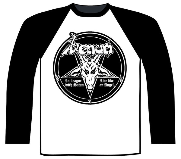VENOM - In league with Satan BASEBALL LONGSLEEVE