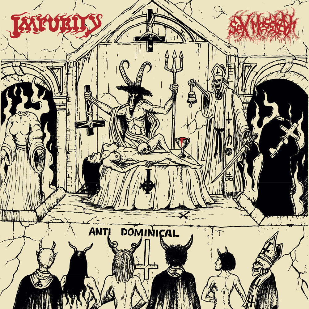 IMPURITY / SEX MESSIAH - Vomiting Blasphemies Over The World LP*
