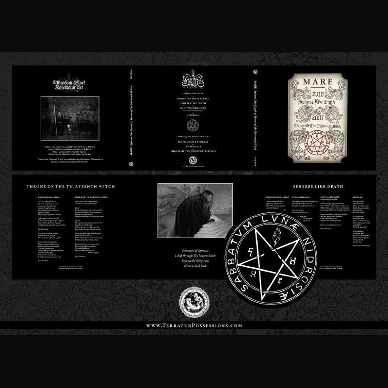MARE - Spheres Like Death & Throne Of The Thirteenth Witch CD