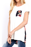Contrast Floral Tunic Tee - Nickel and Birch