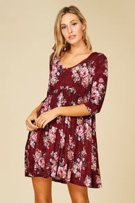 Floral Empire Waist Swing Dress - Nickel and Birch