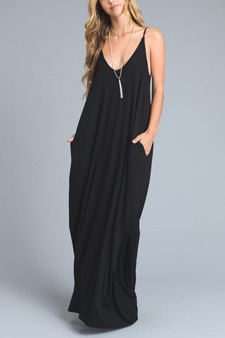 Maxi Dress with Pockets - Nickel and Birch