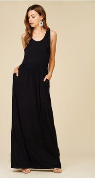 Tank Top Maxi Dress with Pockets - Nickel and Birch