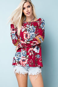 Floral Print Long Sleeve Top - Nickel and Birch