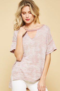 Burnout French Terry Short Sleeve Top - Nickel and Birch