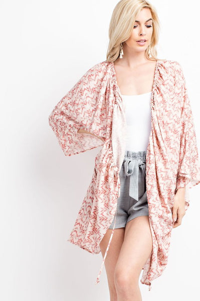 Lightweight Aztec Kimono Cardigan - Nickel and Birch