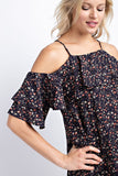 Floral Cold Shoulder Top - Nickel and Birch