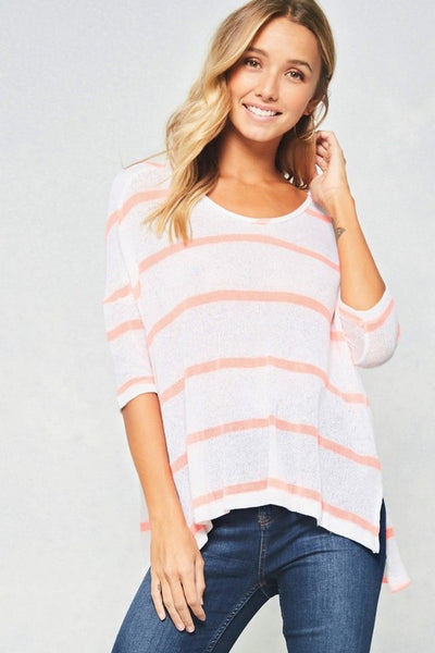 Lightweight Striped Knit Top - Nickel and Birch