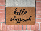 hello goodbye Reversible Outdoor Doormat - Nickel and Birch