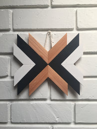Mini Wood Wall Hanging - Nickel and Birch