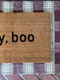 hey, boo Halloween Doormat - Nickel and Birch