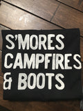 Smores Campfires & Boots Crew Neck Tee - Nickel and Birch