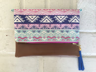 Tribal Boho Tassel Clutch - Nickel and Birch