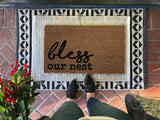 Bless Our Nest Custom Newlywed Doormat - Nickel and Birch