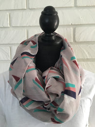 Sailboat Pattern Scarf - Nickel and Birch