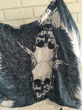 Skull and Leaf Infinity Scarf - Nickel and Birch