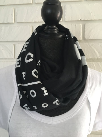 Eye Chart Scarf - Nickel and Birch