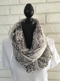 Aztec Infinity Scarf - Nickel and Birch