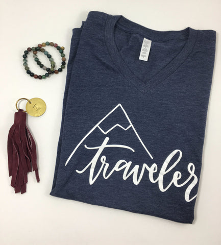 Traveler V-Neck Tee - Nickel and Birch